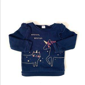 3/$25 Carters Baby Girl Unicorn Ruffle Sweatshirt